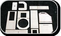Cabinet kit for audio loudspeakers