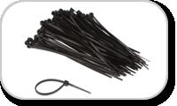 Attaches et colliers pour fixer les câbles dans les flightcase et rack 19