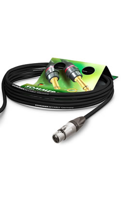 Audio cables equipped with plugs by Sommercable