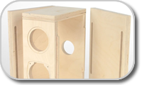 Empty boxes for acoustic loudspeakers