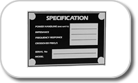 Logo & Plates for speakers