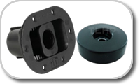 Rubber bases for loudspeakers
